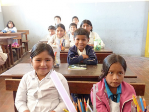 Classroom kids in Bolivia