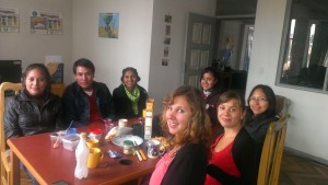Our breakfast leaving party for Chantal and Francine