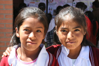 Two school girls from Yamparaez.