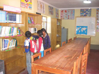 Yamparaez library one year after opening its doors.